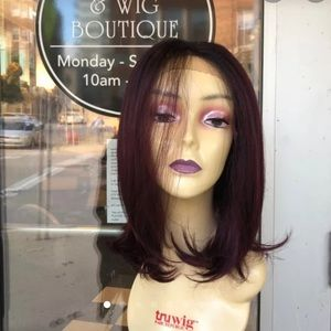 Accessories - Burgundy ombré Lacefront Freepart Wig 2019 Style